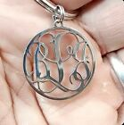 Personalized MONOGRAMMED Keychain Brushed Stainless Steel