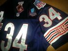 Brand New Chicago Bears Throwback #34 Walter Payton w/Dual patch sewn Jersey men