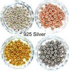 2mm-8mm Genuine 925 Sterling Silver Round Ball Beads for Jewelry Making Findings