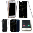 for iphone 4 case 360° shockproof cover -scenic marble