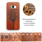Natural Carved Wood Wooden Pattern Hard Case Cover For Galaxy S8 S7 Edge Plus