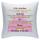 "Designed White Cushions 18"" - Disney Quotes - In Our Loving Home - Style 8"