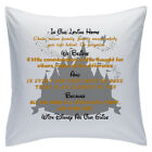 "Designed White Cushions 18"" - Disney Quotes - In Our Loving Home - Style 14"