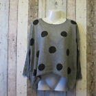 AX Paris Spots Knitted Jumper. Grey. Size S/M (2407116 42/160) C