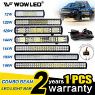 WOW - LED Light Bar 12V 24V Flood Spot Combo Beam Offroad Work Lamp 120W 126W