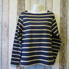 VOI Ladies Navy Stripe Long Sleeve Top, Size 16 (2586363 loc 161) C