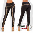 Stylish Sexy Warm Woman Pants Diving with fleece Leopard pattern- Regular size
