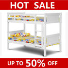 White Wooden Bunk Beds for Kids Children Bedroom Single Size Bed