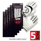 Golf Glove Leather 5 Pack Genuine Performance Cabretta Soft Leather