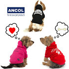Ancol Muddy Paws Dog Warm Cute Hoodie Jumper Sweater Pink Red Black Xmas Gift