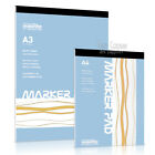 Marker Pad, A4 or A3, 50 sheets, 70gsm bleed proof paper, by Seawhite