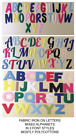 """MIXED ALPHABET - IRON ON die cut Fabric LETTERS! Approx size 1.5""""! 3 STYLES!"""