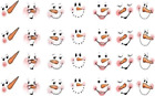 Внешний вид - 1 inch Snowman Faces Waterslide  Craft ( wood- ceramic- ornaments) Decals