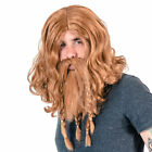 Adult Men's Deluxe Viking Wig and Beard Costume Accessory Set