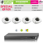 1 2 3 4 Camera 4MP Mini Small Dome Complete CCTV Kit Bundle IP Security System