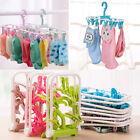 Baby Foldable Clothes Hanger Hook With 12 Clips Drying Rack For Socks Gadget New