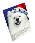 Christmas American Eskimo Dog Holiday Santa Hat Woven Thr...