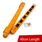 Wood 6 Billiards Pool Cue Sticks Holder Wall Rack 40cm Length Red Yellow Color