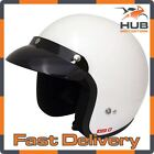 Viper RS-04 Open Face Motorcycle Motorbike Scooter Crash Helmet - White