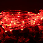 Red  Battery Operated LED Fairy String Lights Home Garden Party Lamps 30LEDs 3M