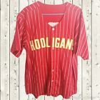 Bruno Mars #24K Hooligans Baseball Jersey Stiched BET Awards Short Sleeves Red