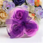 Artificial 3pcs Wedding Favor Rose Soap Valentine's Day Gifts Heart-Shaped