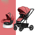 Baby Stroller 3 in 1 High Landscape Pram foldable travel pushchair & Car Seat