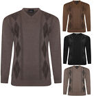 MENS V NECK CARDIGAN FINE KNITWEAR WOOL DIAMOND STYLE CASUAL FORMAL PULLOVER TOP