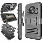 For Motorola Moto X4 / X 4th Gen Shockproof Armor Clip Holster Hard Case Cover