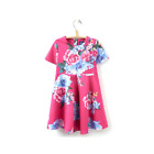 Joules Girls Dress Pink Floral JnrConstance