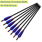 "12X 16/18/20/22"" Crossbow Bolts Aluminum Shafts Crossbow Hunting Arrows Target"