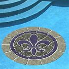 """20+ Designs, 29"""" Decorative Pool Mat, Mosaic Art, Easy to Install and Remove"""