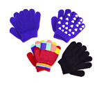 MAGIC HORSE RIDING WOOLLY GLOVES, BLACK, BLACK/WHITE PIMPLES - CHILD