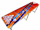 20+ Designs, Beer Pong Table with Holes, 2x8, Aluminum, MLB, NFL Tailgate Table