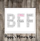 Best Friend BFF Personalised Word Art Christmas Birthday Gift Print ANY COLOURS