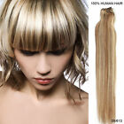 """US Ship-20"""" Silk Straight Clips in Human Hair Piece Extension 8 Pieces 100Grams"""