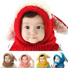 Baby Kids Children Dog Earflap Knitting Beanie Hooded Hat Cold Weather Warm Caps