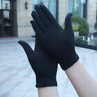 Plain SATIN Stretch WRIST Gloves WEDDING Goth PROM Madonna