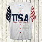 Donald Trump Baseball Jersey Stiched United States President Short Sleeves White