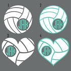 VOLLEYBALL BALL MONOGRAM Vinyl Decal Sticker CUP TUMBLER CAR SUV LAPTOP COOLER
