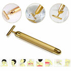NEW BEAUTY BAR 24K GOLDEN PULSE SKIN CARE Facial Roller Gold Massage Skin Lift P