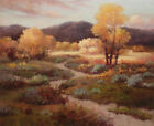 """Oil Painting of Landscape Small Tree and Flower on the Ground in Autumn  20*24"""""""