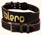 "ISLERO 6"" 4"" PURE Leather Gym Belt Weightlifting Back Support Strap Bodybuilding"