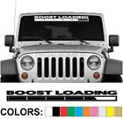 Boost Loading Windshield Decal Sticker Diesel Turbo Car Truck Blower Supercharge