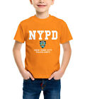 NYPD Kids Short Sleeve Round Neck Transfer Print With Chest Badge T-Shirt
