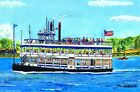 Becky Thacher Riverboat Art Print Connecticut River CT Gift Essex Steam Train
