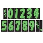 7 1/2 Inch Green & Black Numbers Car Dealer Windshield Pricing Stickers You Pick