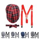 Boy's Matching Ivy Cap, Bow Tie, and Suspenders Set (BSBIV0807)