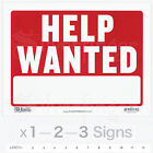HELP WANTED Sign — 9 x 12  inch Employment Jobs Ad Employee Work Plastic x1—2—3