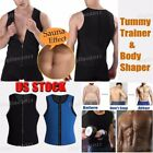 Mens Neoprene Slim Shirt Hot Body Fat Burner Shaper Waist Tr